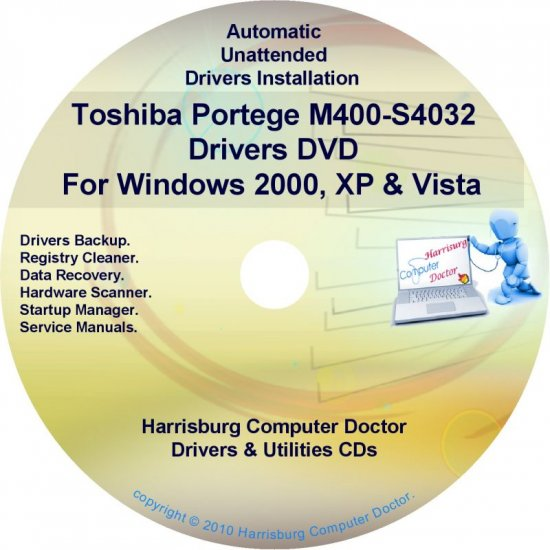 Toshiba Portege M400-S4032 Drivers Recovery CD/DVD
