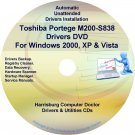 Toshiba Portege M200-S838 Drivers Recovery CD/DVD