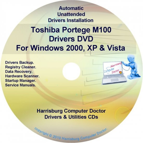 Toshiba Portege M100 Drivers Recovery CD/DVD