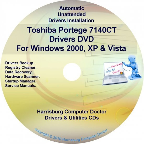 Toshiba Portege 7140CT Drivers Recovery CD/DVD