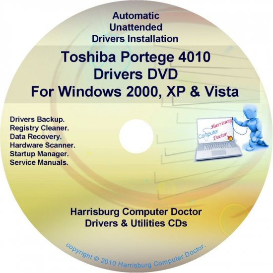 Toshiba Portege 4010 Drivers Recovery CD/DVD