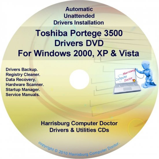 Toshiba Portege 3500 Drivers Recovery CD/DVD