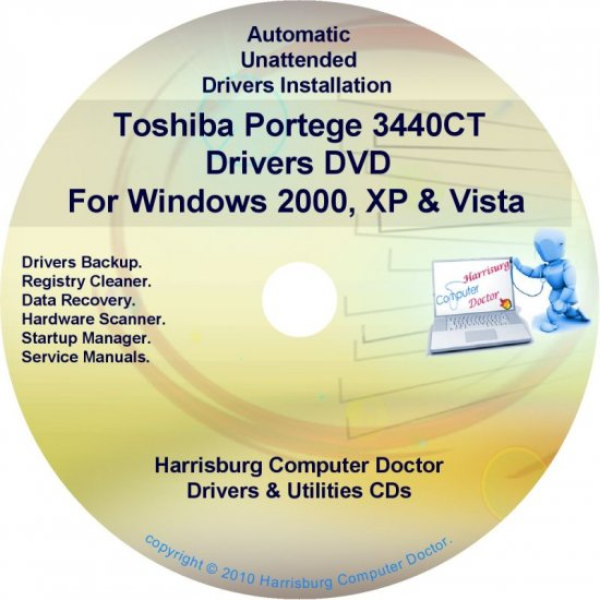 Toshiba Portege 3440CT Drivers Recovery CD/DVD