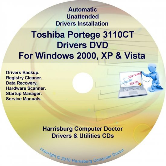 Toshiba Portege 3110CT Drivers Recovery CD/DVD