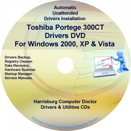 Toshiba Portege 300CT Drivers Recovery CD/DVD