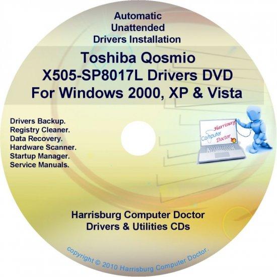 Toshiba Qosmio X505-SP8017L Drivers Recovery CD/DVD