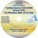 Toshiba Qosmio G35-AV650 Drivers Recovery CD/DVD