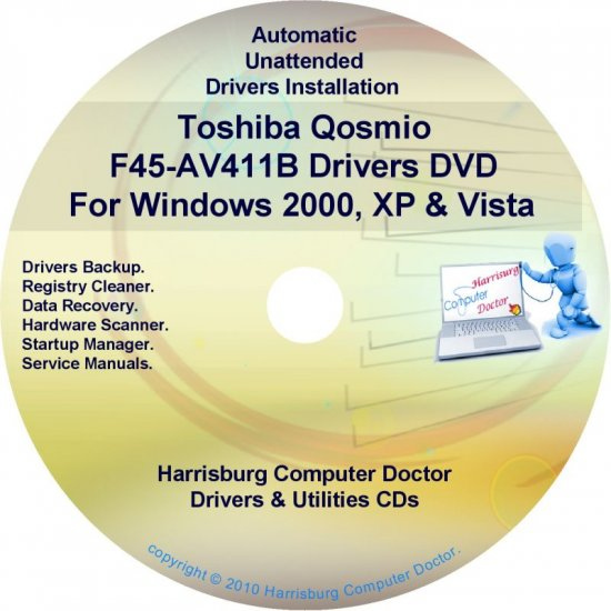 Toshiba Qosmio F45-AV411B Drivers Recovery CD/DVD
