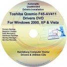 Toshiba Qosmio F45-AV411 Drivers Recovery CD/DVD