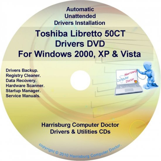 Toshiba Libretto 50CT Drivers Recovery CD/DVD