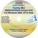 Toshiba Mini NB205-SP2923R Drivers Recovery CD/DVD