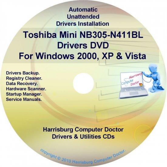Toshiba Mini NB305-N411BL Drivers Recovery CD/DVD