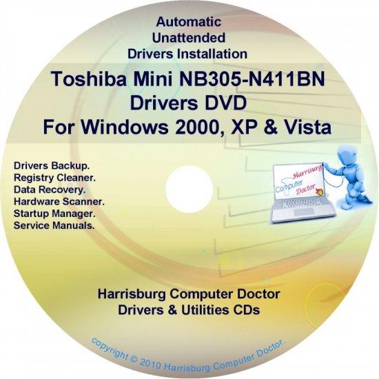 Toshiba Mini NB305-N411BN Drivers Recovery CD/DVD