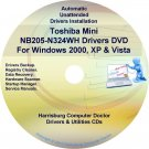 Toshiba Mini NB205-N324WH Drivers Recovery CD/DVD