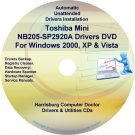 Toshiba Mini NB205-SP2920A Drivers Recovery CD/DVD