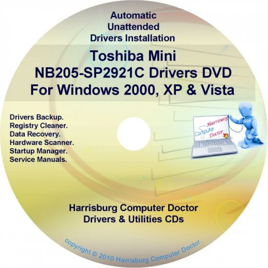 Toshiba Mini NB205-SP2921C Drivers Recovery CD/DVD
