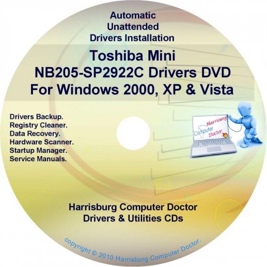 Toshiba Mini NB205-SP2922C Drivers Recovery CD/DVD