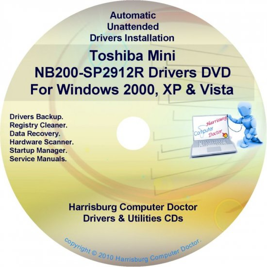 Toshiba Mini NB200-SP2912R Drivers Recovery CD/DVD