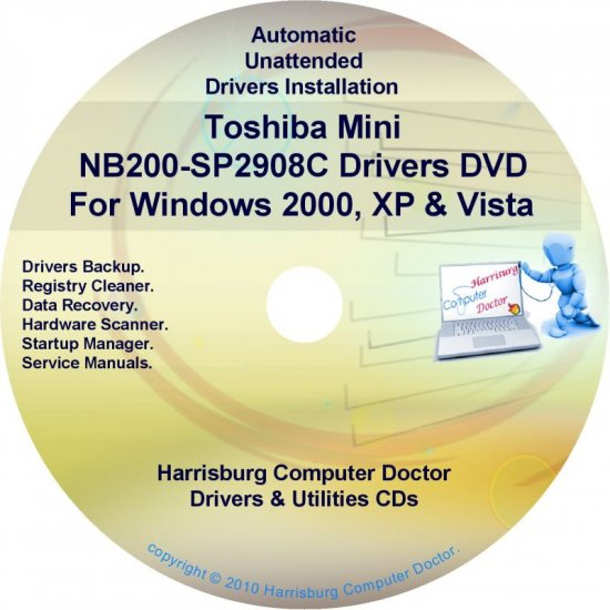 Toshiba Mini NB200-SP2908C Drivers Recovery CD/DVD