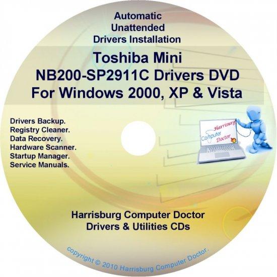 Toshiba Mini NB200-SP2911C Drivers Recovery CD/DVD