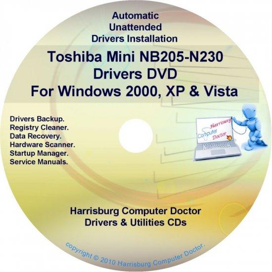 Toshiba Mini NB205-N230 Drivers Recovery CD/DVD