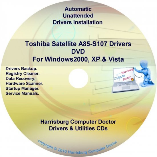 Toshiba Satellite A85-S107 Drivers Recovery CD/DVD