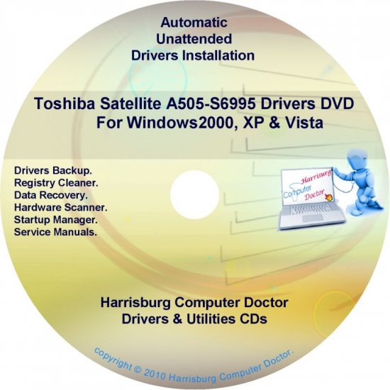Toshiba Satellite A505-S6995 Drivers Recovery CD/DVD