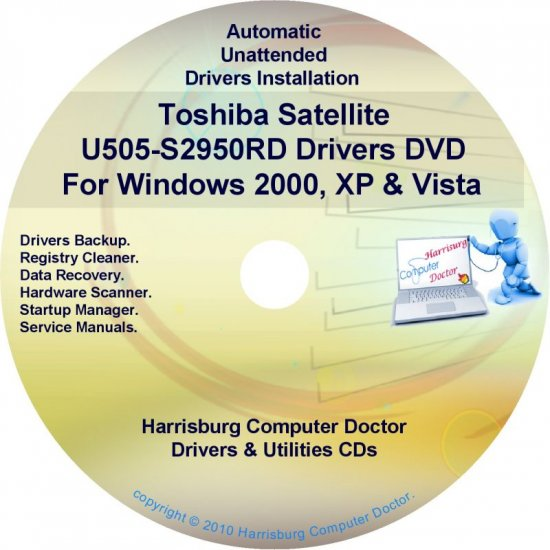 Toshiba Satellite U505-S2950RD Drivers CD/DVD