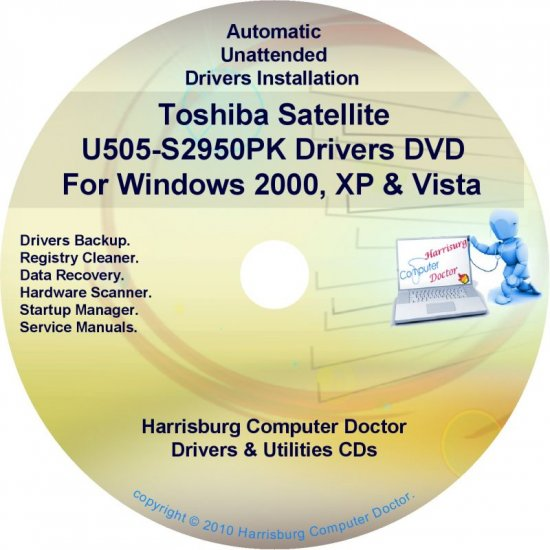 Toshiba Satellite U505-S2950PK Drivers CD/DVD