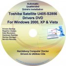 Toshiba Satellite U405-S2856 Drivers Recovery CD/DVD