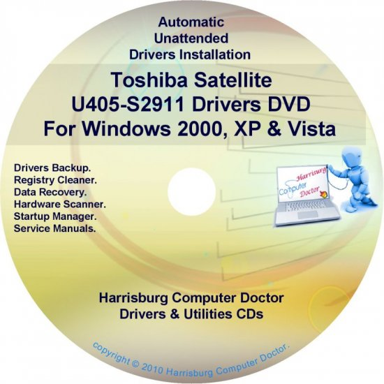 Toshiba Satellite U405-S2911 Drivers Recovery CD/DVD