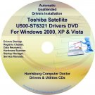 Toshiba Satellite U500-ST6321 Drivers Recovery CD/DVD