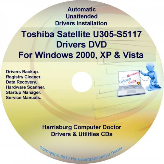 Toshiba Satellite U305-S5117 Drivers Recovery CD/DVD