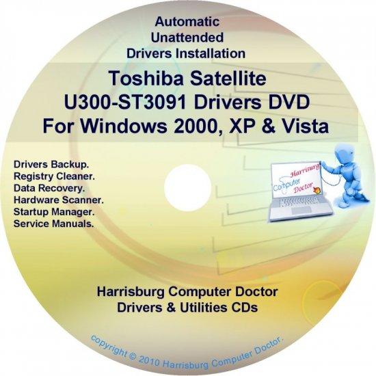 Toshiba Satellite U300-ST3091 Drivers Recovery CD/DVD