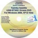 Toshiba Satellite U300-ST3091 Drivers Recovery CD/DVD