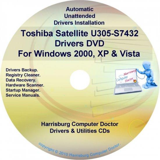 Toshiba Satellite U305-S7432 Drivers Recovery CD/DVD