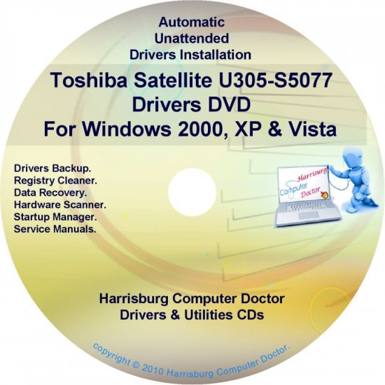Toshiba Satellite U305-S5077 Drivers Recovery CD/DVD