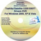 Toshiba Satellite U305-S5077 Drivers Recovery CD/DVD