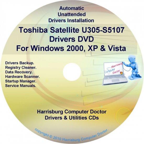 Toshiba Satellite U305-S5107 Drivers Recovery CD/DVD