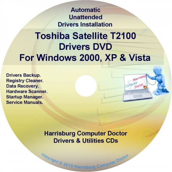 Toshiba Satellite T2100 Drivers Recovery CD/DVD