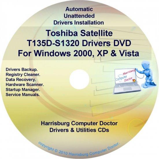 Toshiba Satellite T135D-S1320 Drivers CD/DVD