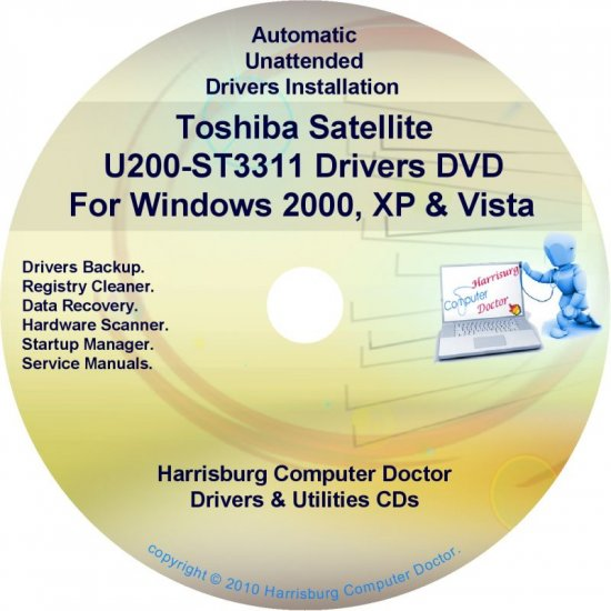 Toshiba Satellite U200-ST3311 Drivers Recovery CD/DVD