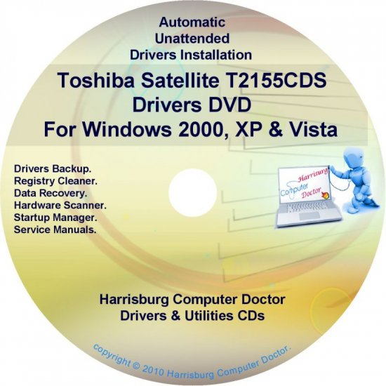 Toshiba Satellite T2155CDS Drivers Recovery CD/DVD