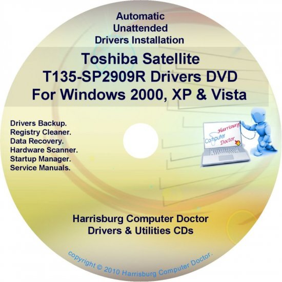 Toshiba Satellite T135-SP2909R Drivers CD/DVD