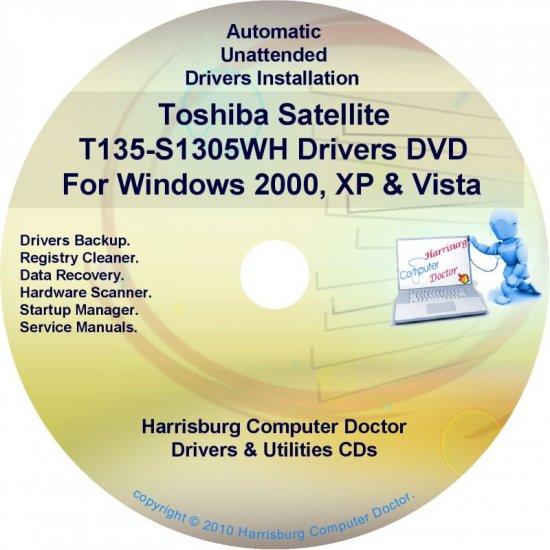 Toshiba Satellite T135-S1305WH Drivers CD/DVD