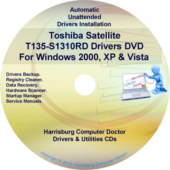 Toshiba Satellite T135-S1310RD Drivers CD/DVD