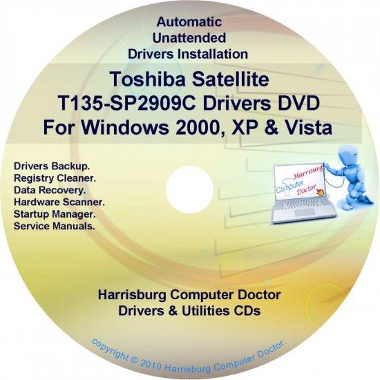 Toshiba Satellite T135-SP2909C Drivers CD/DVD