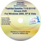 Toshiba Satellite T115-S1110 Drivers Recovery CD/DVD