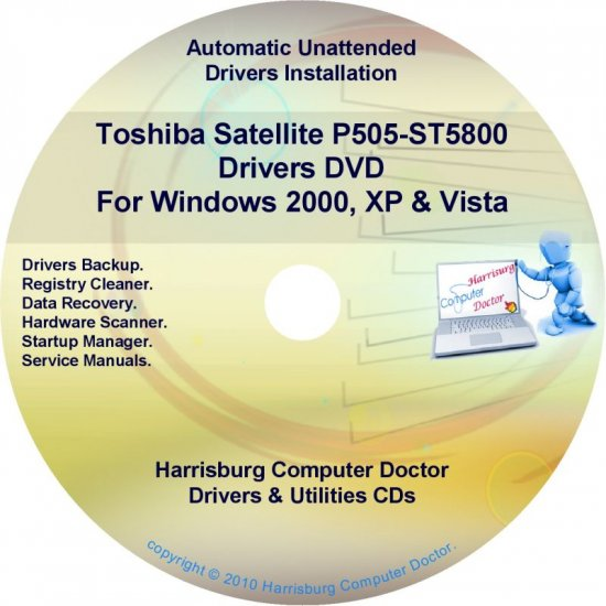 Toshiba Satellite P505-ST5800 Drivers Recovery CD/DVD