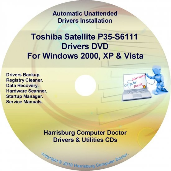 Toshiba Satellite P35-S6111 Drivers Recovery CD/DVD